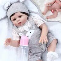 48 Cm BEBE Reborn Full Body Silikon Manusia Hidup Fleksibel Boy Girl Reborn Boneka Bayi Manis Twin Premie Baru Lahir Boneka Hadiah