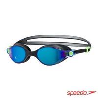 【SPEEDO】成人運動鏡面泳鏡 V-CLASS(黑/藍)