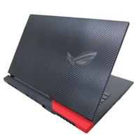 【Ezstick】ASUS ROG Strix G17 g713 G713QE 黑色卡夢紋機身貼(含上蓋貼、鍵盤週圍貼)