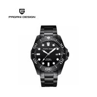 【PAGANI DESIGN】經典機械水鬼不鏽鋼自動機械錶 PD-1632-全黑