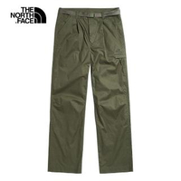 【The North Face】The North Face北面女款綠色防風防潑水休閒長褲 49E37D6