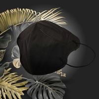 成人3D醫用口罩(曜石黑)細耳帶-30入 /單片包裝