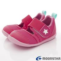 日本月星Moonstar機能童鞋-HI系列寬楦速乾鞋1174粉(寶寶段)