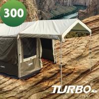 【露營趣】TURBO TT-TL04 Lite300 延伸屋簷 前庭 延伸布 8人快速帳篷 專利快速帳 八人帳 30秒快速帳 速搭帳篷