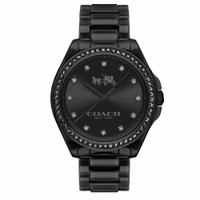 刷卡滿3千回饋5%點數 COACH 耀眼迷人時尚陶瓷腕錶/黑/14502498