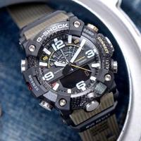【CASIO 卡西歐】G-SHOCK 戶外探險雙重感應器運動錶/墨綠x黑(GG-B100-1A3DR)
