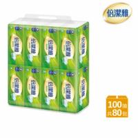 【倍潔雅】柔軟舒適抽取式衛生紙(100抽80包/箱)