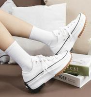 【滿額↘現折$200】【CONVERSE】CONVERSE RUN STAR HIKE 男鞋 女鞋 休閒鞋 帆布鞋 厚底鞋 低筒 全白 增高 熱門款 168817C【勝利屋】