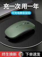 Dell戴爾惠普華為無線鼠標可充電式靜音無聲聯想華碩蘋果筆記本小米辦公男臺式電腦手機ipad藍牙無限滑鼠女生