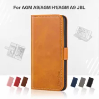 Flip Cover For AGM A9 Business Case Leather Luxury With Magnet Wallet Case For AGM H1/AGM A9 JBL Phone Cover