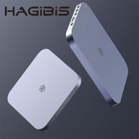 【HAGiBiS】鋁合金Type-C擴充器USB2.0*2+USB3.0*2+SD/TF卡槽+SATA硬碟盒(MC25-SV)