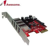 [富廉網] Awesome PCIe 4埠USB3.0擴充卡 AWD-UB-120LN