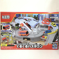 【Fun心玩】TW61357 麗嬰 日本 多美 TOMICA 交通世界 新城鎮 TM 轉轉巴士站 場景 聖誕 生日 禮物