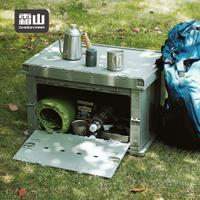 【日本霜山】工業風耐重摺疊置物收納箱-75L-2色可選 (工業風 收納箱 整理箱 露營)