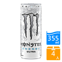 Monster白魔爪超越能量碳酸飲料355MLx4入【愛買】
