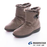 【MOONSTAR 月星】發熱3度C系列-3E寬楦防水發熱冬靴(灰)