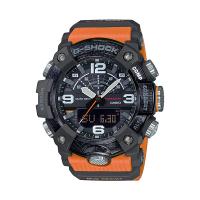 【CASIO 卡西歐】G-SHOCK 藍牙泥人雙顯錶 樹脂錶帶 亮橘 碳纖維 防水200米(GG-B100-1A9)