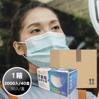 【易廷】清新宣言醫用口罩(1箱-40盒組/花漾粉)