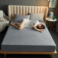 【Jun Jun】防水防污立體衍縫床墊保潔墊(雙人加大180*200cm)