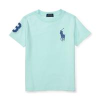 美國百分百【Ralph Lauren】T恤 RL 短袖 T-shirt Polo 大馬 藍馬 素面 湖水綠 XXS XS S 青年 E102