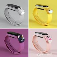 手環錶帶-小米手環4腕帶 米4手環nfc版替換錶帶硅膠帶3代個性潮創意卡通帶2 買一送一