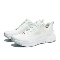【滿千折百優惠開跑】SKECHERS 慢跑鞋 ARCH FIT 白 編織 休閒 女 (布魯克林) 149414WMNT