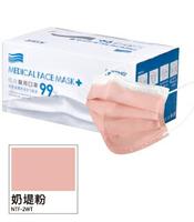 佑合 成人醫療口罩 奶堤粉 50入/盒【躍獅】