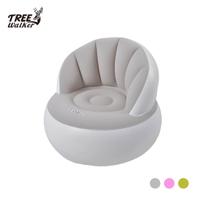【Treewalker露遊】舒適太空躺椅(成人) 圓型太空椅 充氣凳/折疊收納椅/懶人沙發椅/懶骨頭 單人用 成人充氣椅