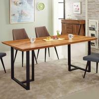 【AT HOME】現代簡約5.8尺柚木積層餐桌/工作桌/洽談桌(韋伯)