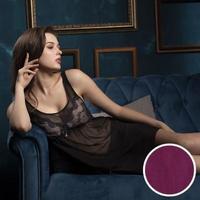 【Wacoal 華歌爾】睡衣-摩登 M-L 性感裙裝 網紗-NNS06901U2(紫紅)