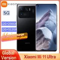 ใหม่ Original Xiaomi Mi 11 Ultra 5G สมาร์ทโฟน12GB + 512GB Snapdragon 888แปด Core 50MP 120HZ หน้าจอโค้ง67วัตต์ NFC