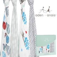 【aden+anais】輕鬆抱寶寶包巾 四入裝(氣球嘉年華款2064)