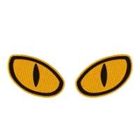 2 Pieces Car Reflective Strips Warning Tape Eye Shape Reflective Strips Safety Mark Protective Door Bump Sticker