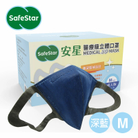【安星】醫療級3D立體口罩 深藍色50入盒裝 M