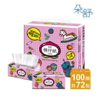 【朵舒】超厚柔棉仔紙抽取式衛生紙(100抽x12包x6袋/箱)