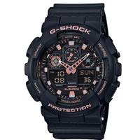 刷卡滿3千回饋5%點數|CASIO G-SHOCK世界時間雙顯計時錶/GA-100GBX-1A4DR