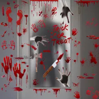 Halloween Bloody Stickers Home Decoration Wallpaper Bloody Hand Window Sticker Scary Bloody Wall Paper Halloween Wall Stickers