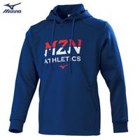 【MIZUNO 美津濃】男款長袖連帽T恤 32TA050616(深藍)(連帽T恤)