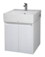 【TOTO盆+訂製櫃】50cm TOTO立體檯上盆+訂製款雙門浴櫃 不含面盆龍頭(L710CGUR+C-710D-2)