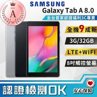 【SAMSUNG 三星】福利品 Galaxy Tab A 8.0 2019 2G/32GB T295-LTE版(9成新 平板電腦)