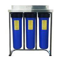 【軟水.除氯.除泥沙】台製全屋戶式水塔淨水設備系統20英吋大胖不鏽鋼三道式腳架過濾淨水器