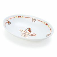 小禮堂 Hello Kitty 橢圓陶瓷咖哩盤《白紅》沙拉盤.點心盤.異國廚房系列