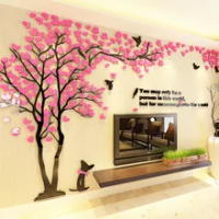 Large Acrylic Wall Sticker Room Decoration 3D Wall Stickers Decals For Wall Decor DIY Mirror Mural Art Wallpaper For Background