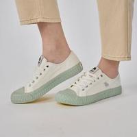 【moz】瑞典 駝鹿綁帶式帆布餅乾鞋(文青藍)