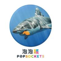 【PopSockets 泡泡騷】二代 PopGrip 美國 No.1 時尚手機支架(鯊魚餓了)