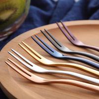 304不銹鋼水果叉套裝西餐叉歐式創意月餅叉子水果簽甜品叉蛋糕叉