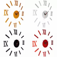 Clock Mirror Wall Sticker Europe Fashion Modern Watch Wallpaper Removable Design Decal Home Decor Living Room Bedroom Decorative