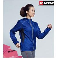 義大利第一品牌-LOTTO樂得 男/女款防潑水抗UV慢跑防風運動外套 [1106] 藍【巷子屋】
