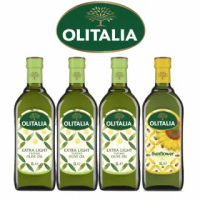 【Olitalia奧利塔】精緻橄欖油+葵花油料理組(1000mlx4瓶)