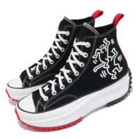 【CONVERSE】休閒鞋 Run Star Hike 穿搭 男女鞋 塗鴉藝術家 聯名 厚底 情侶款 帆布 黑 紅(171859C)